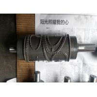 Alloy Steel Embossing Roller Chrome Plated , Hardness HRC 62