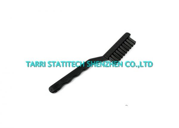 Cranked Handle ESD Nylon Tooth Brush , Anti Static PCB Cleaning Brush