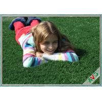 China UV Resistant Plastic Realistic Artificial Grass / Artificial Lawn Turf For School Kids wholesale