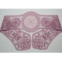 China Purple Lace Collar Applique Floral Embroidered Tulle Mesh Trim For Neckline wholesale