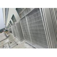 China Custom Chain Link Fence Panels , Galvanized Temporary Fencing Anti Aging wholesale
