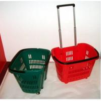China Colorful Shopping Hand Baskets With Wheels wholesale