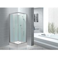 China Fitness Halls 800 X 800 Glass Shower Cabin With Silver Aluminum Frame wholesale