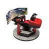 China Red 6D Three Screen Virtual Reality Racing Car 360 Degree Rotation Game wholesale