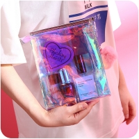 China Personalized Holographic Travel Zipper PVC Cosmetic Bag wholesale