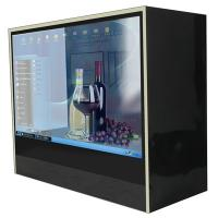 China Museum 21.5 Stand Alone HD Transparent LCD Display Box / Touch Screen Kiosk wholesale