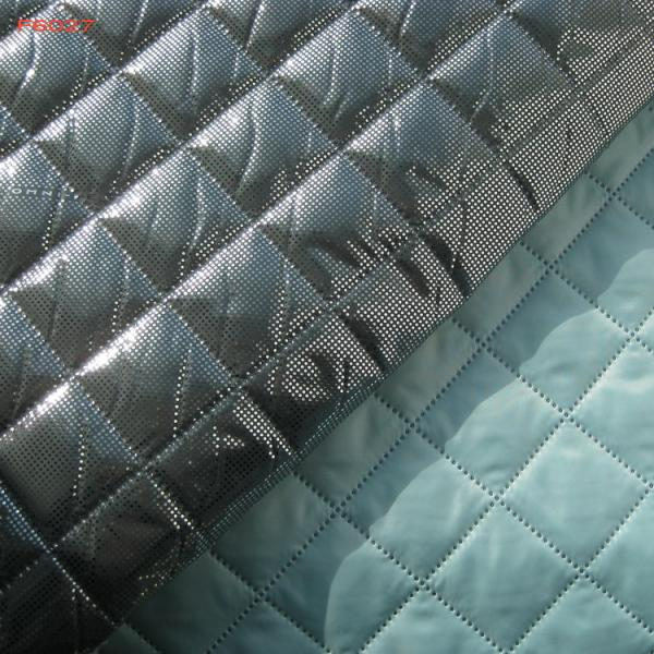 Quality F6027 polyester termo quilting fabric with omni-heat fanction for sale
