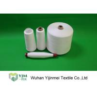 China Optical White / Bleached White TPM 828 50s/2 Spun Polyester Yarn 42337 Meters Per KG wholesale