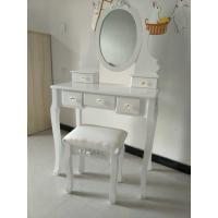 China Contemporary Big White Wooden Target Dressing Table wholesale