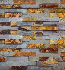 S1120 Flat Split Surface Finish Ledge Stone, Rust Slate Wall Stone Cladding