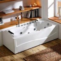 China Bathtub/Jacuzzi/Whirlpool with Multiple Positional Hand Shower and Head Resting Cushion wholesale