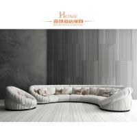 China Hotel Lobby Hall Furniture / Modern Sofa Sets Yellow and White wholesale