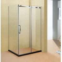 China Stainless Steel 304 Shower Cubicle 1 Fixed 1 Movable Sliding Door Shower wholesale