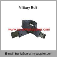 China Wholesale Cheap China Army Polyester Navy Blue Military Metal Buckle Police Belt wholesale