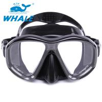 China Durable Liquid Silicone Diving Mask Low Volume Design Tempered Glass Lens Wide View wholesale