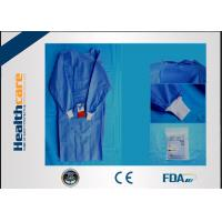 China SMS Sterile Disposable Surgical Gowns , Disposable Theatre Gowns Anti - Blood S-3XL wholesale