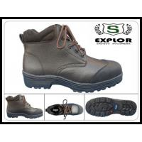 China Men's brown safety boots with steel toe work boots for men leather boots wholesale