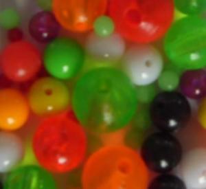 fish beads, plastic beads, round beads