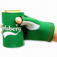 China Glove Can Cooler with Flat Lock or Blind Stitching, Made of 2.5 to 4.5mm SBR + Double Polyester wholesale