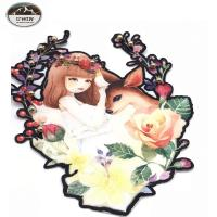 China Beautiful Various Elements Digital Printed Patches For Garment / Decoration wholesale