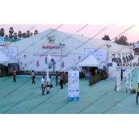 25*75M Elegant Outdoor White PVC Cover Tent Waterproof for Indian Auditorium Meeting