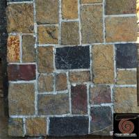 China Flat Style Random Stacked Stone For Landscape / Garden Wall Weathering Resistance wholesale
