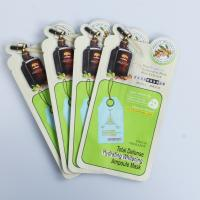 China Cosmetic facial mask special shaped pouch face mask packaging bag moisture proof plastic pouch on sale