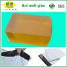 China Bloque caliente transparente amarillo del pegamento del derretimiento para el bolso expreso que sella la adherencia fuerte wholesale