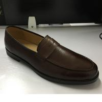 China Brown Mens Leather Dress Shoes , Fashion Oxford Party Wear Shoes For Mens on sale