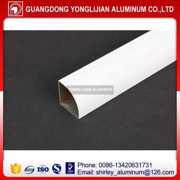 Quality Aluminum extrusion handle profile for window and door white color for sale