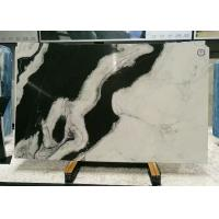 China Book Matched Marble Stone Floor Tiles , Smooth Black And White Marble Tile on sale