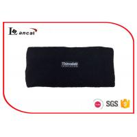 China Multi Layer Black Mens Knitted Snood Scarf With Customize Woven Label wholesale