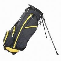 China Waterproof lightweight standing golf bag with padded dual carrying strap wholesale