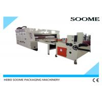 China Rotary Flexo Printer Slotter Die Cutter , Printing Slotting Die Cutting Machine Speed 80Pcs / Min. wholesale