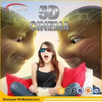 China Hydraulic Amusement Park 5D Movie Theater 6 Pistons With Electric Seat Platform wholesale