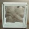 China bloc en verre clair de 190x190x80mm et coloré nuageux wholesale