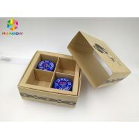 Buy cheap PVC / Kraft Custom Printed Paper Boxes , Gift Box Packaging With Transparent Window from wholesalers