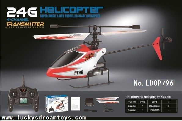 Quality NEW Mini In door 4CH 2.4G R/C Single Propeller Helicopter with Gyro,ABS Rc heli,RC toy for sale