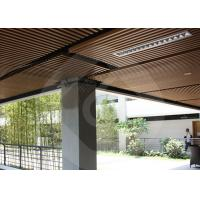 China Modern Strip Ceiling Panel WPC ECO Composite Wood For Indoor Decoration wholesale