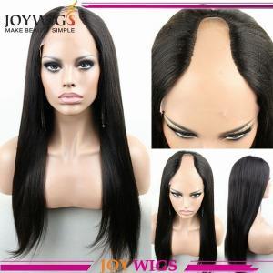 China Hot selling 100virgin brazilian hair italian yaki human hair u part lace wigs wholesale