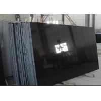 China Absolute Black Granite Shanxi Black Granite pure black granite slabs for wall flooring tiles wholesale