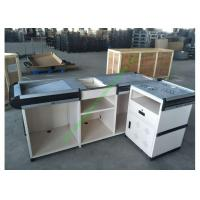 Buy cheap Anti-rust Steel Cash Desk Commercial Money Counters Table Design For Shop from wholesalers