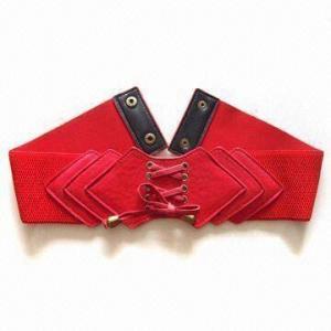 China Correia de couro do plutônio com o elástico, apropriado para mulheres, ilhós de bronze antigos e bujões wholesale