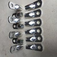 Silver Round Copper Wire Lugs , Electrical Conductivity Copper Battery Lugs