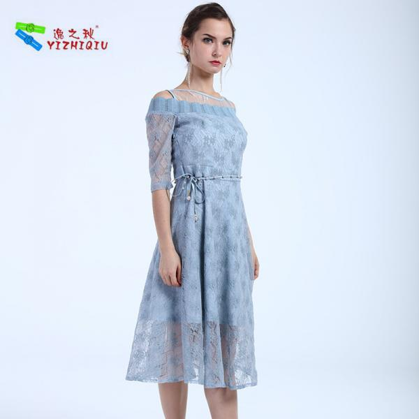 Quality YIZHIQIU Wholesales Customized Floral Lace Dress for sale