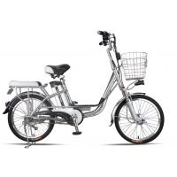 China 20 Inches Battery Powered Bicycles Sliver Commuter Electric Bike 48V8Ah on sale