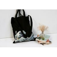 China 100% Canvas Reusable Black Tote Bags - 12oz. Thick Material Canvas Shopping Bags wholesale