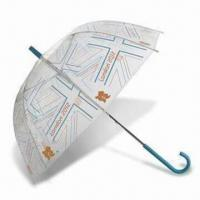 China London 2012 Union Flag Clear Dome Umbrella, Made of Recycled Polyester wholesale