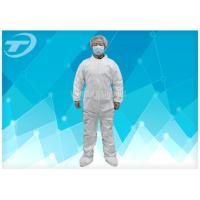 China Hood Waterproof Disposable Coverall Suit With Polypropylene Spunbond on sale