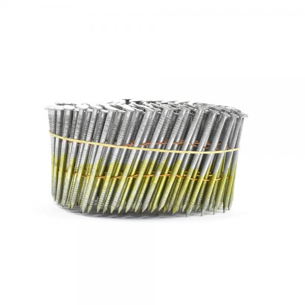 Quality Wire Collated Electric Galvanised Coil Nails For Construction Ring Shank  2'' for sale